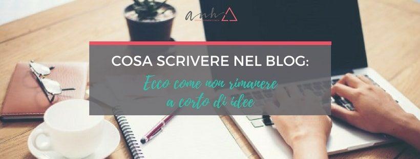 scrivere nel blog