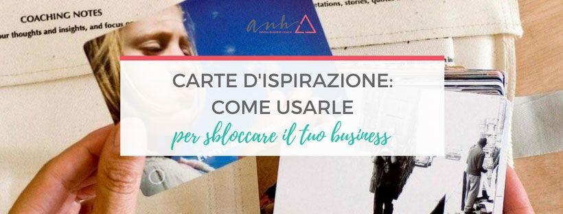 Carte d'ispirazione per sbloccare il tuo business